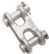 National Hardware 3248BC Series N240-887 Clevis Link, 3/8 in, 5400 lb Weight Capacity, Steel, Zinc