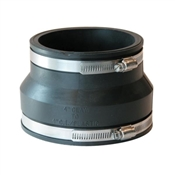"""Clay/Cast Iron Pipe Coupling, 4"""" x 4"""""""