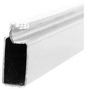 "3/4"" x 5/16"" x 94"" White Aluminum Screen Frame"