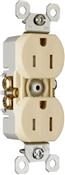 Ivory 15 Amp 125 Volt GFCI Tamper Resistant Receptacle