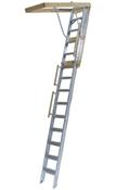 "Long Aluminum Attic Ladder 25.5"" x 63"" 350lb Weight Limit"