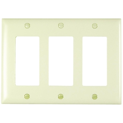 Almond Nylon 3 Gang Rocker Plate