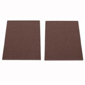 Prosource FE-S307-PS Furniture Pad, Felt Cloth, Brown