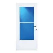 """36"""" White Mid-View Storm Door"""