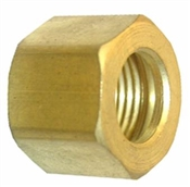 "2 Pc 1/8"" Brass Compression Nut"
