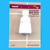Economy White Plastic Shower Head