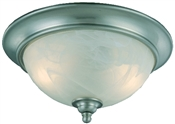 2 Light Satin Nickel Dover Flush Indoor Ceiling Fixture