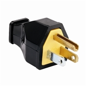 Black 15 Amp 125 Volt 3Wire  High Impact Plug