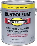 Professional High Performance Paint Safety Yellow, 1 Gallon