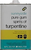 Sunnyside Pure Gum Spirits of Turpentine 1 Quart