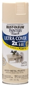 2X Painter's Touch Spray Paint Satin Ivory Silk