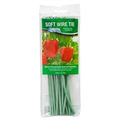 """T003GT Green Thumb, 20 Pack, 8"""", Soft Rubber Coated Wire Tie"""