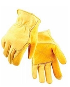 Fencing Work Gloves, Gold Cowhide, Men's L