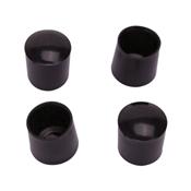 Prosource FE-50603-PS Furniture Leg Tip, Round, Plastic, Black
