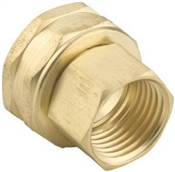 "12""x3/4"" Double Female Swivel Threaded Hose Connector - Brass"
