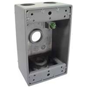 One Gang Aluminum 4 Outlet Box -  Gray