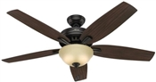 Ceiling Fan, 120 V, 3-Speed, 5-Blade, Premier Bronze, 56 In