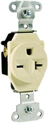 Pass & Seymour 5851ICC8 Single Receptacle, 20 A, 6-20R, Ivory