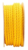 "3/4"" X 100' Twisted Poly Rope, Yellow"