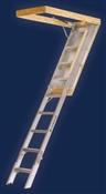 """25.5"""" x 7'9"""" to 10' 375# Aluminum Attic Ladder"""