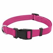 """Pet Expert Adjustable Dog Collar, Pink, 1"""" x 18-26"""""""