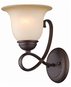 1 Light Antique Bronze Indoor Wall Fixture