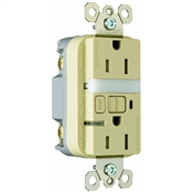 Ivory 15 Amp 125 Volt GFCI Receptacle with Night Light