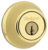 Single Cylinder Mobile Home Deadbolt, Polished Brass