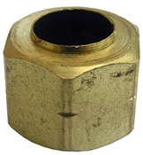 "1/4"" Brass Compression Nut with Captive Sleeve"