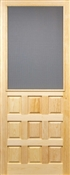 """Raised Panel Solid Wood Screen Door, 2'8"""" x 6'8"""""""