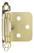 Self-Closing Flush/Overlay Cabinet Hinge Contractor Pack - Bright Brass