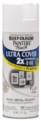 2X Painter's Touch Spray Paint Flat White