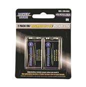 9V Alkaline Batteries, 2 pack