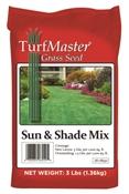 Turfmaster 28-08550 Grass Seed, 3 Lb, Bag, 1000 Sq-Ft