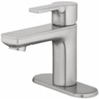 Single Handle Bathroom Faucet With Pop-Up, Brushed Nickel