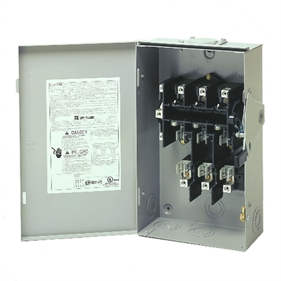 60 Amps 3-Pole 240 Volt 3-phase 4-wire Safety Switch