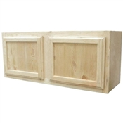 "36"" x 15"" Unfinished Pine Wall Cabinet"