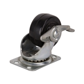 Prosource JC-H09 Swivel Caster, 2 in Dia Wheel, 125 lb Weight Capacity, Rubber Wheel