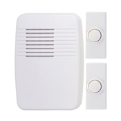 Heath Zenith SL-7367-02 Wireless Doorbell Kit, Ding, Ding-Dong, Westminster Tone, 75 dB