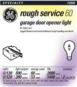 60 Watt A19 Rough Service Bulb 2 Pack