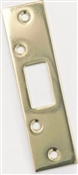 "1-5/8"" x 11"" Polished Brass Plated Steel Security Strike"
