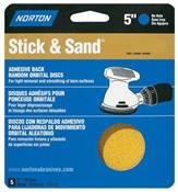 "5"" 120 Grit Stick & Sand Disc - 5 Pack"