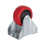 Prosource JC-380-G Rigid Caster, 3 in Dia Wheel, 176 lb Weight Capacity, Polyurethane Wheel