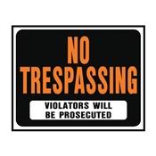 SIGN NO TRESPASSING JUMBOPLAST
