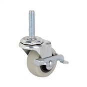 Prosource JC-N07-G Swivel Caster with Brake, 102 lb Weight Capacity, 2 in Dia Wheel, Steel