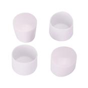 Prosource FE-50614-PS Furniture Leg Tip, Round, Plastic, White