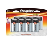 Energizer Non-Rechargeable Alkaline Battery, 1.5 V, D, Zinc Manganese Dioxide