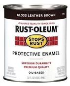 Stops Rust Protective Enamel Leather Brown