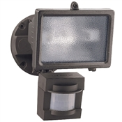 150W Halogen Flood Light w/Motion 110Deg BRZ