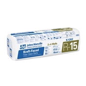 "R15 3-1/2"" X 15"" Kraft Faced Fiberglass Insulation"